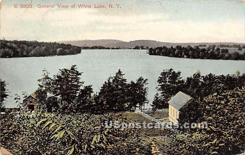 General View - White Lake, New York NY Postcard