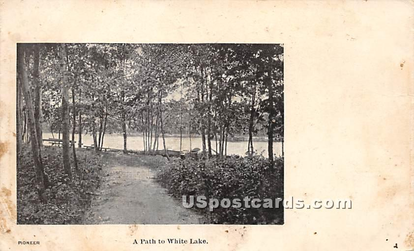 A Path - White Lake, New York NY Postcard