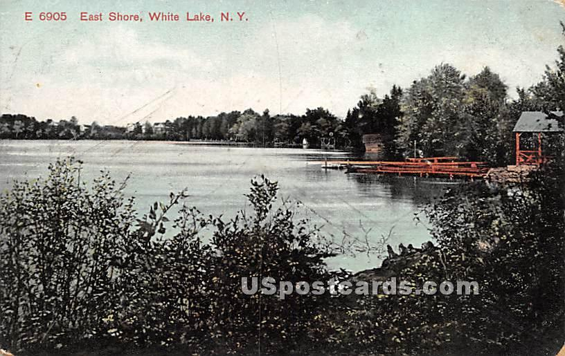 East Shore - White Lake, New York NY Postcard