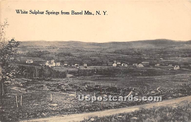 From Barrel Mountains - White Sulphur Springs, New York NY Postcard