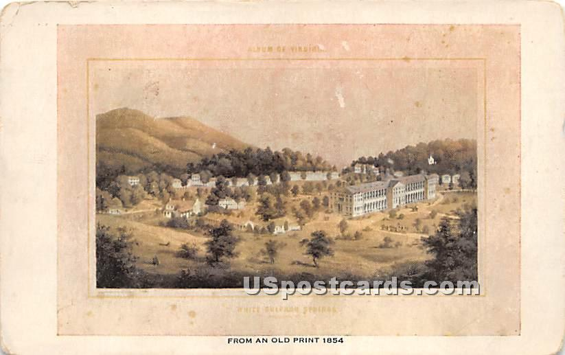 From an Old Print 1854 - White Sulphur Springs, New York NY Postcard
