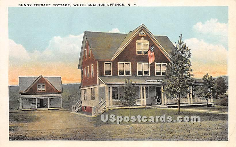 Sunny Terrace Cottage - White Sulphur Springs, New York NY Postcard