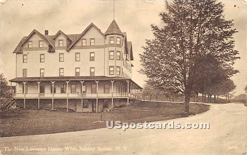 New Lawrence House - White Sulphur Springs, New York NY Postcard