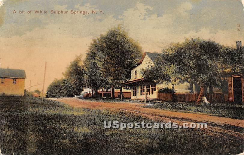A Bit of - White Sulphur Springs, New York NY Postcard