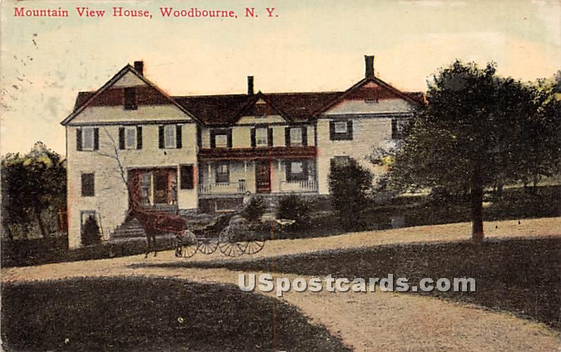 Mountain View House - Woodbourne, New York NY Postcard