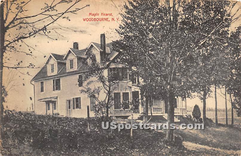 Maple Hearst - Woodbourne, New York NY Postcard