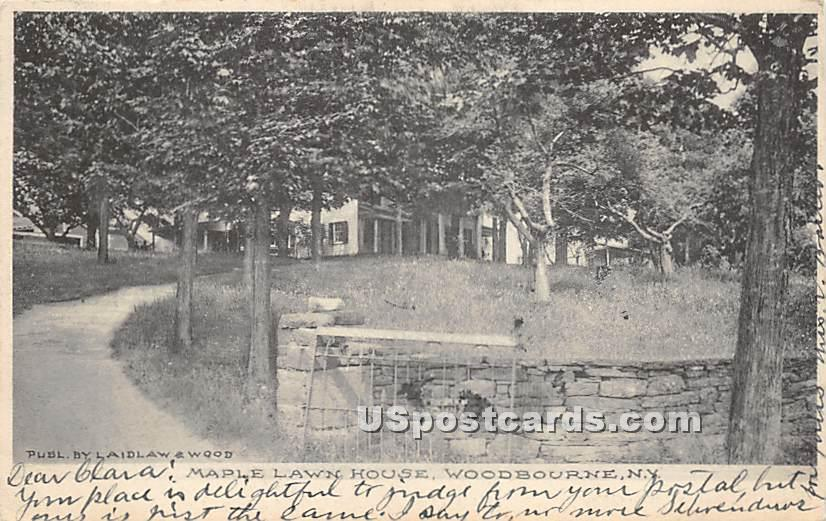 Maple Lawn House - Woodbourne, New York NY Postcard