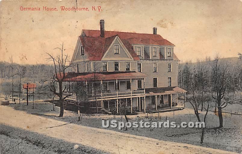 Germania House - Woodbourne, New York NY Postcard