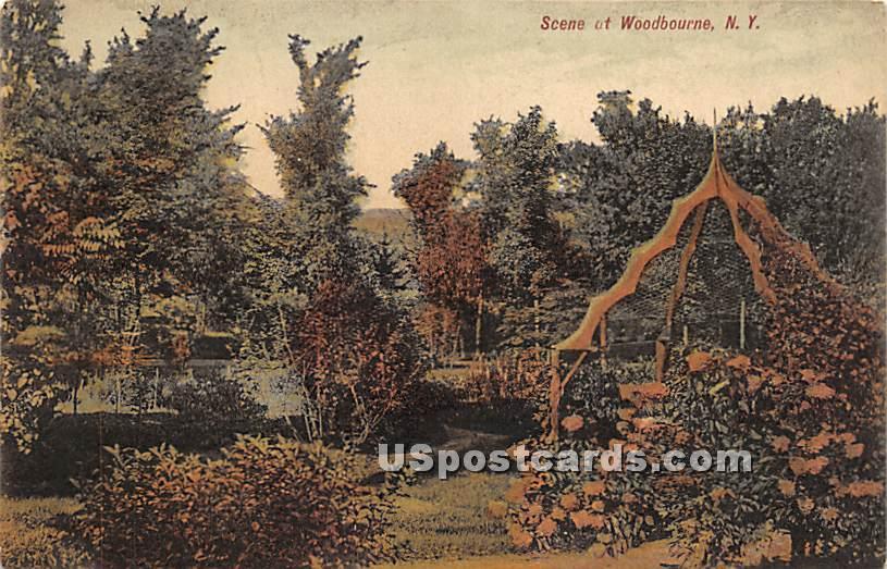 Garden Scene - Woodbourne, New York NY Postcard