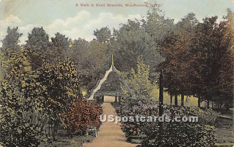 Walk in Knoll Grounds - Woodbourne, New York NY Postcard