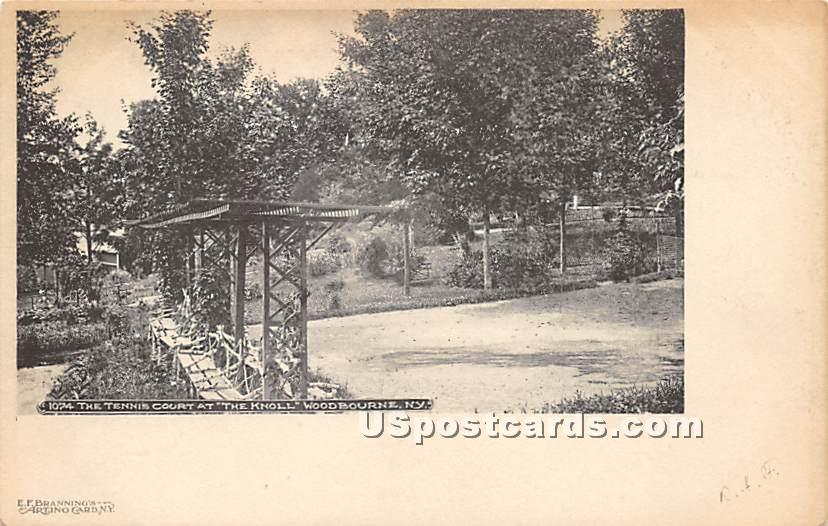Tennis Courts - Woodbourne, New York NY Postcard