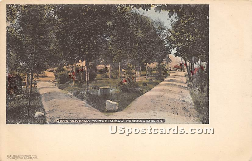 Driveway to The Knoll - Woodbourne, New York NY Postcard