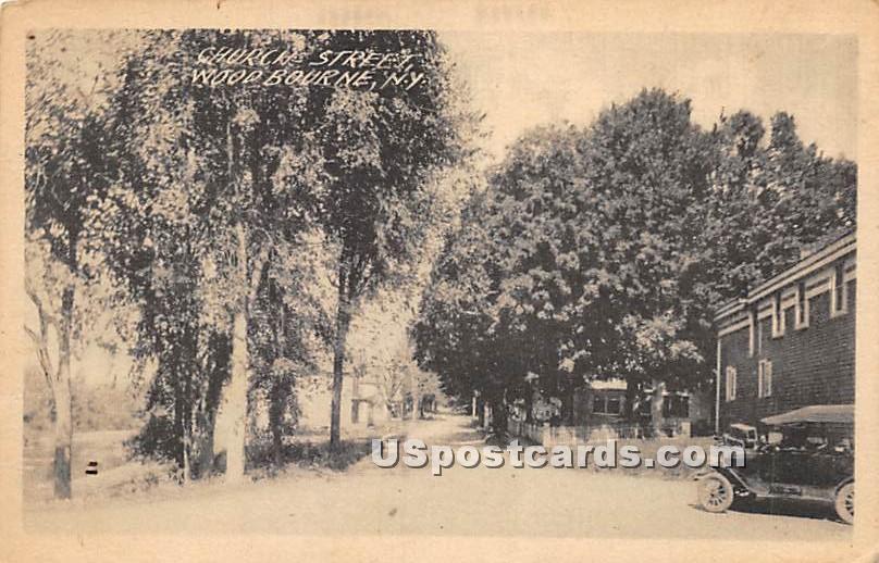 Church Street - Woodbourne, New York NY Postcard