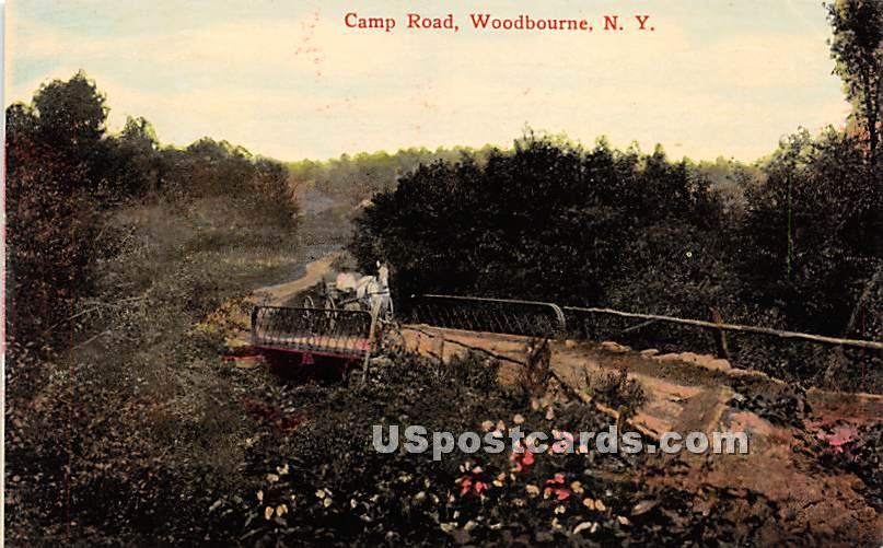 Camp Road - Woodbourne, New York NY Postcard