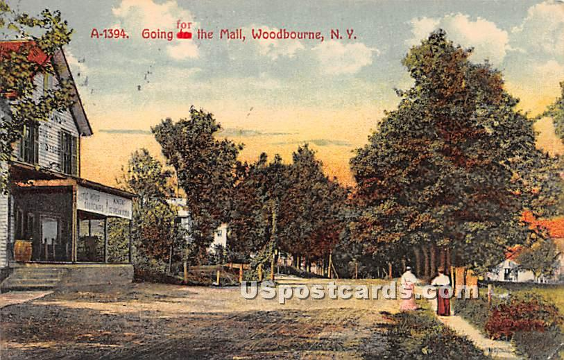 Going for the Mail - Woodbourne, New York NY Postcard