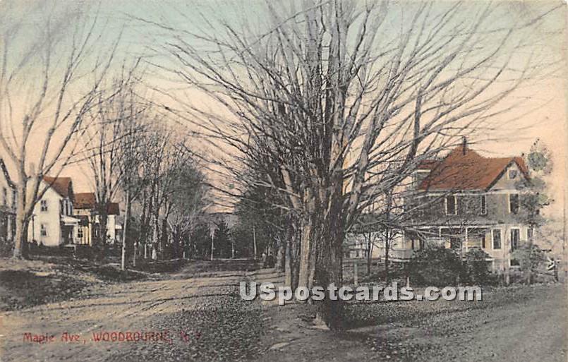 Maple Avenue - Woodbourne, New York NY Postcard