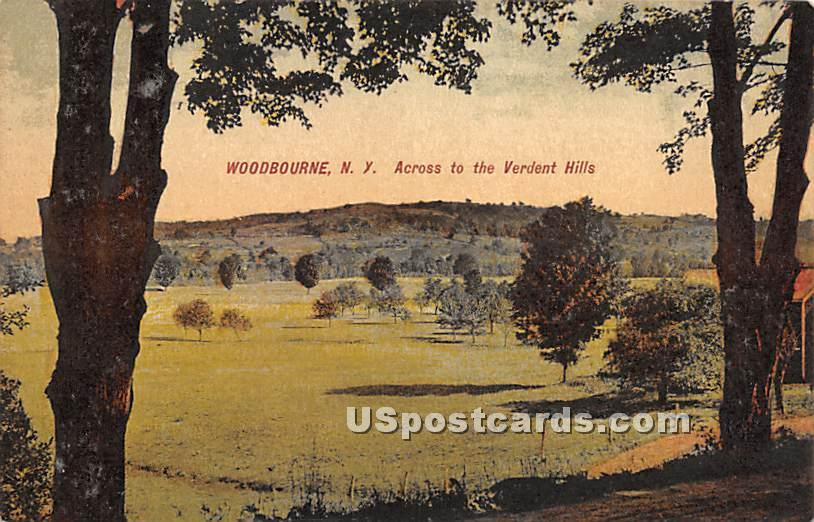 Across to the Verdent Hills - Woodbourne, New York NY Postcard