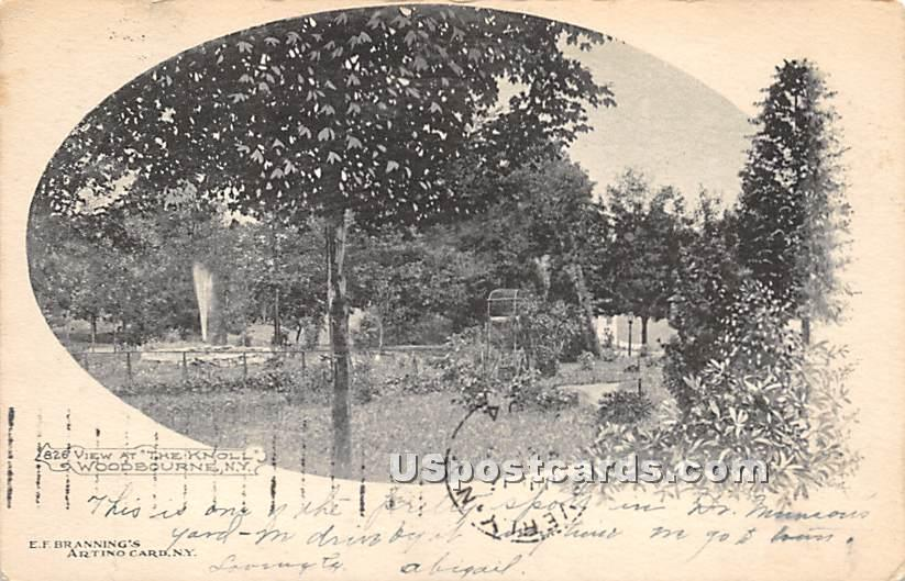 View at the Knoll - Woodbourne, New York NY Postcard