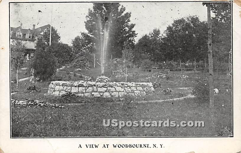 Water Fountain - Woodbourne, New York NY Postcard