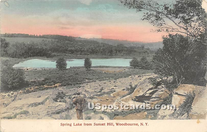 Spring Lake from Sunset Hill - Woodbourne, New York NY Postcard