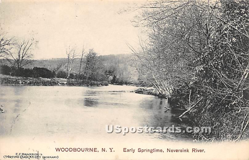 Early Springtime - Woodbourne, New York NY Postcard