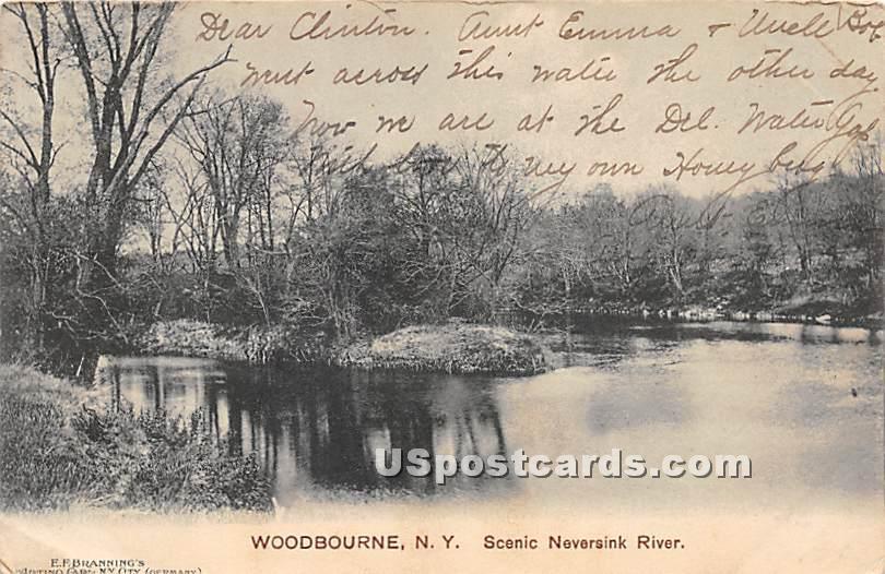 Scenic Neversink River - Woodbourne, New York NY Postcard