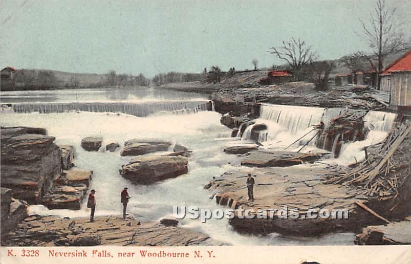 Neversink Falls - Woodbourne, New York NY Postcard