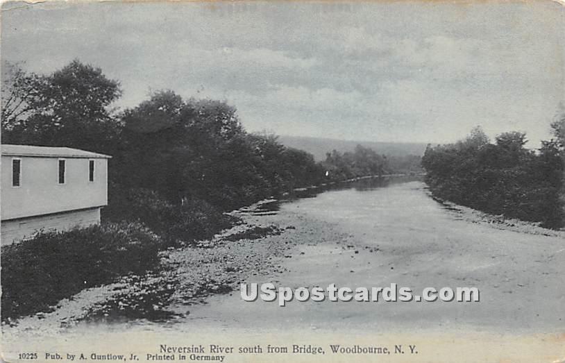 Neversink River - Woodbourne, New York NY Postcard
