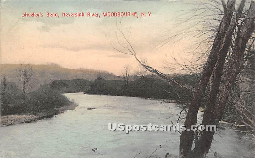 Sheeleys Bend - Woodbourne, New York NY Postcard