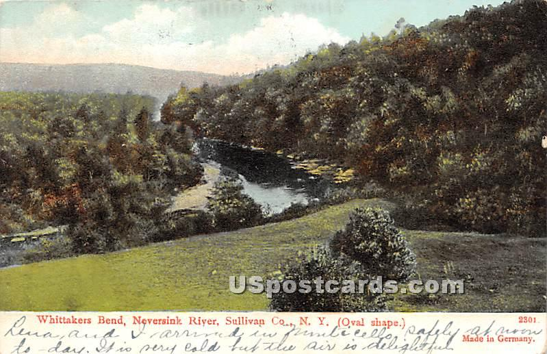 Whittakers Bend - Woodbourne, New York NY Postcard