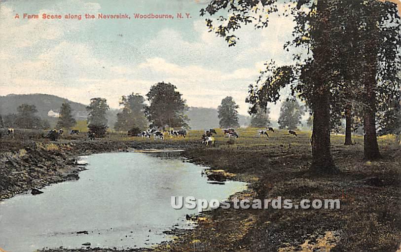 Farm Scene - Woodbourne, New York NY Postcard