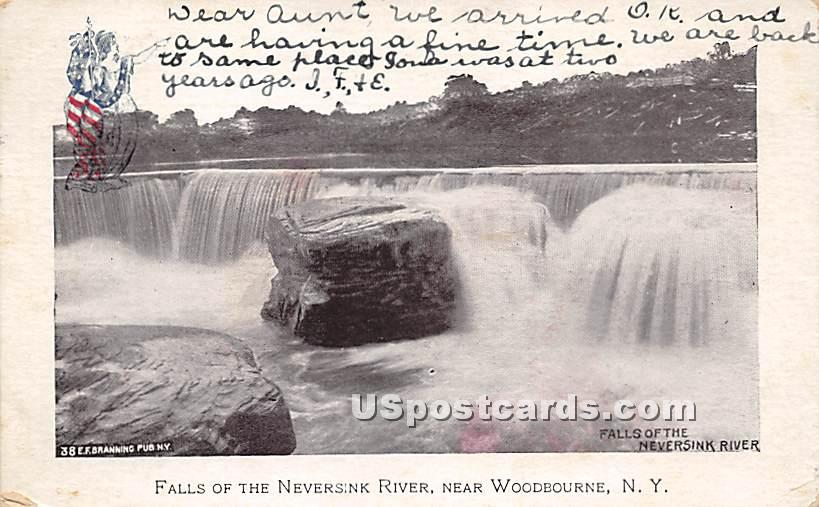 Falls of the Neversink River - Woodbourne, New York NY Postcard