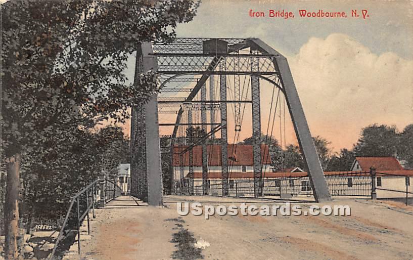 Iron Bridge - Woodbourne, New York NY Postcard