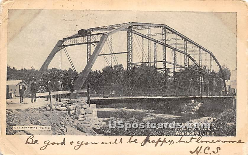 New Bridge across Neversink River - Woodbourne, New York NY Postcard