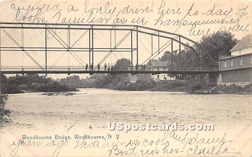 Woodbourne Bridge - New York NY Postcard