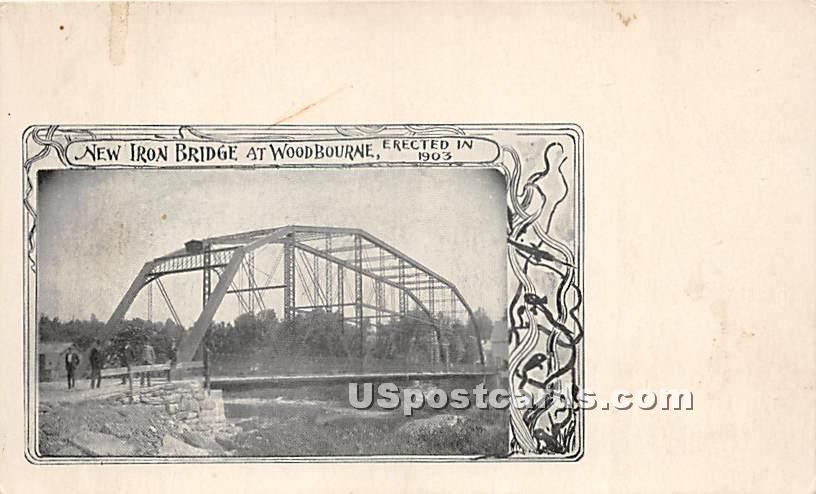 New Iron Bridge - Woodbourne, New York NY Postcard