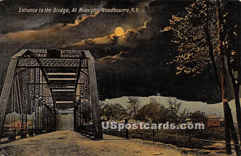 Entrance to the Bridge - Woodbourne, New York NY Postcard