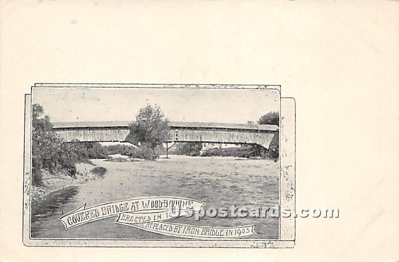 Covered Bridge - Woodbourne, New York NY Postcard