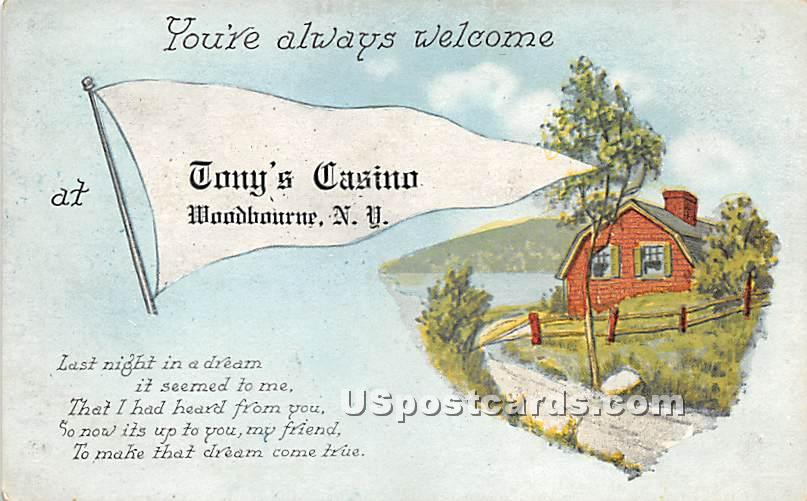 You're always welcome - Woodbourne, New York NY Postcard