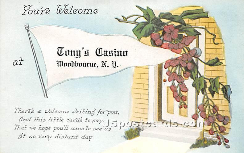 You're Welcome - Woodbourne, New York NY Postcard