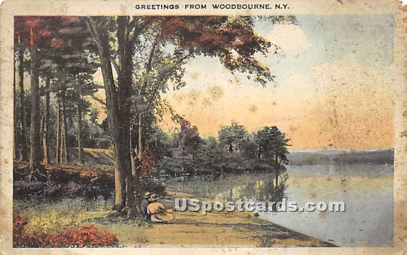 Greetings from - Woodbourne, New York NY Postcard