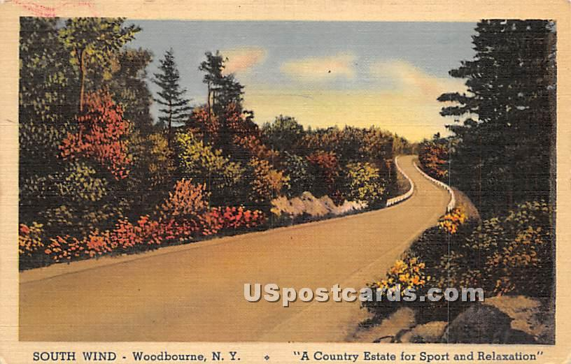 South Wind - Woodbourne, New York NY Postcard