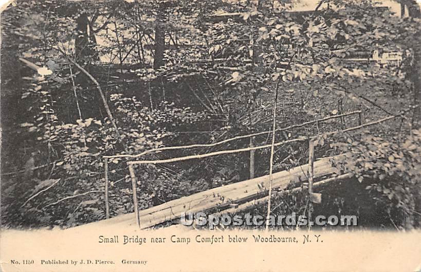 Small Bridge near Camp Comfort - Woodbourne, New York NY Postcard