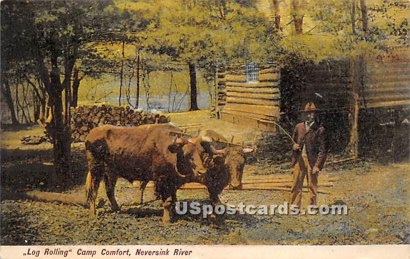 Log Rolling - Woodbourne, New York NY Postcard