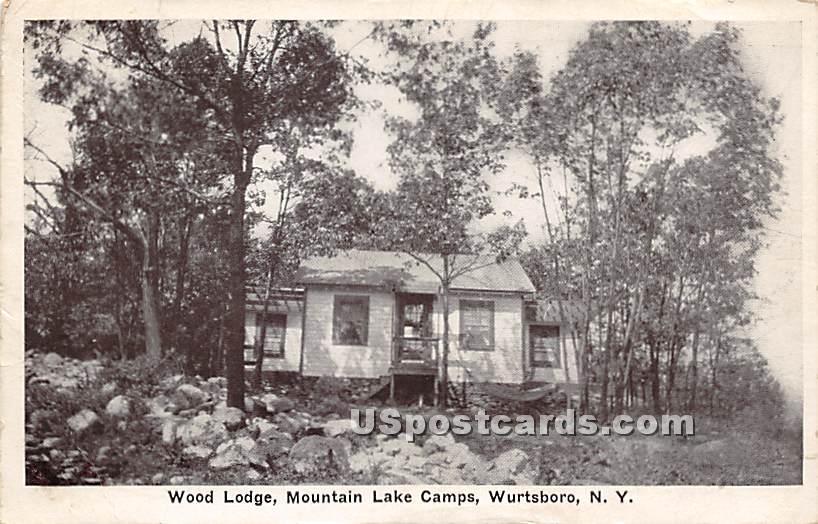Wood Lodge - Wurtsboro, New York NY Postcard