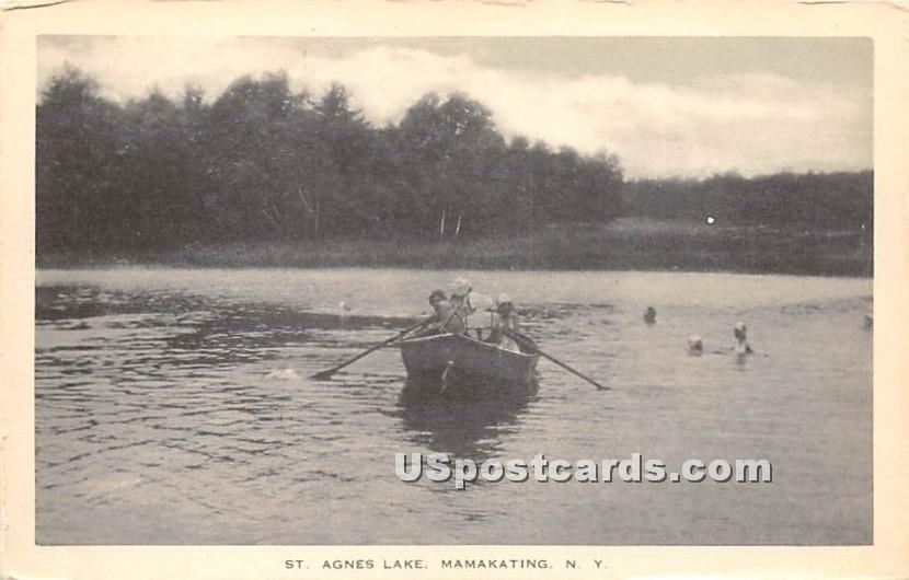 St Agnes Lake - Wurtsboro, New York NY Postcard