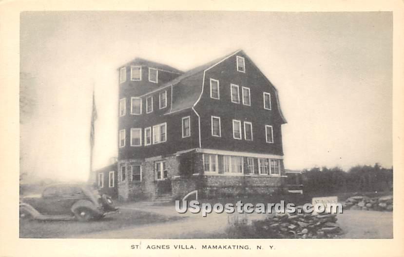St Agnes Villa - Wurtsboro, New York NY Postcard