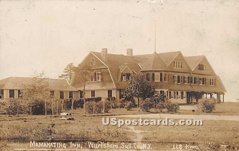 Mamakating Inn - Wurtsboro, New York NY Postcard