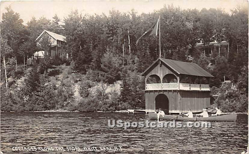 Cottages along the Shore - White Lake, New York NY Postcard