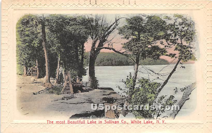 The Most Beautiful Lake - White Lake, New York NY Postcard